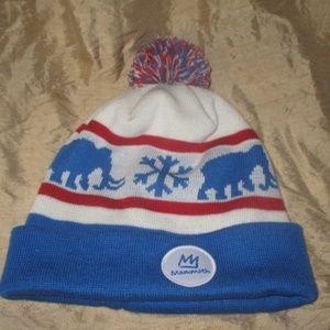 RARE Mammoth Mountain Beanie Hat 1st year logo